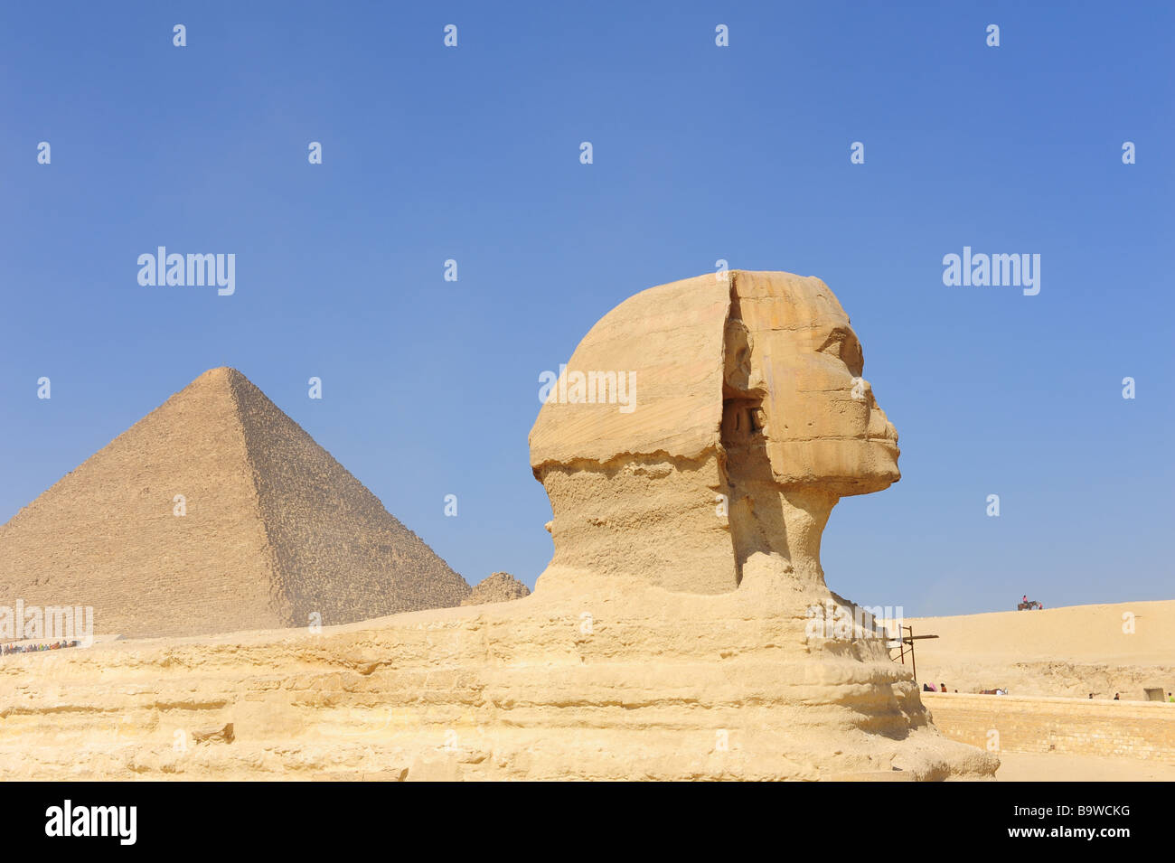 Egypt Giza The Great Pyramids and the Sphinx - Stock Image
