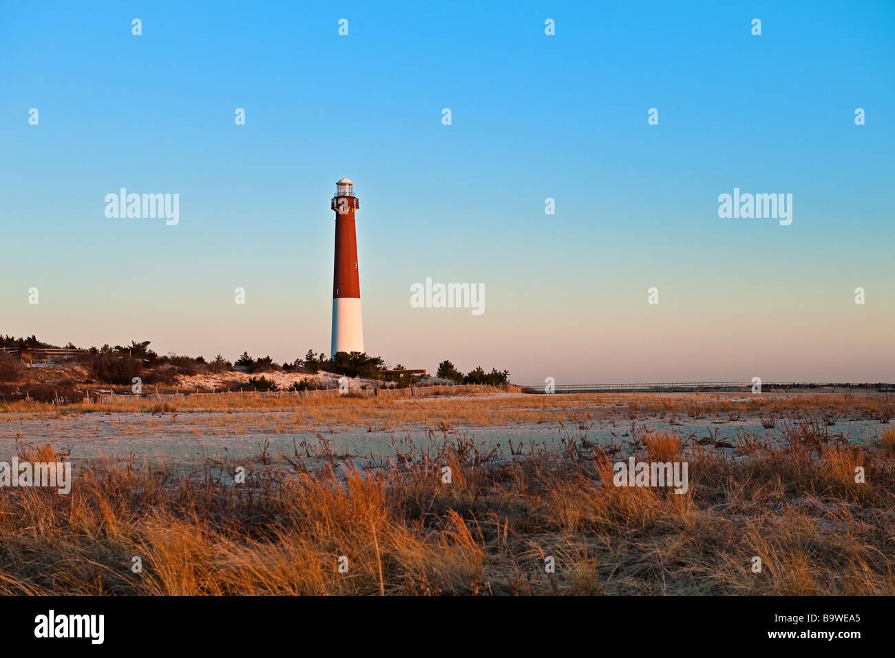 Barnegat Lighthouse Long Beach Island New Jersey USA - Stock Image