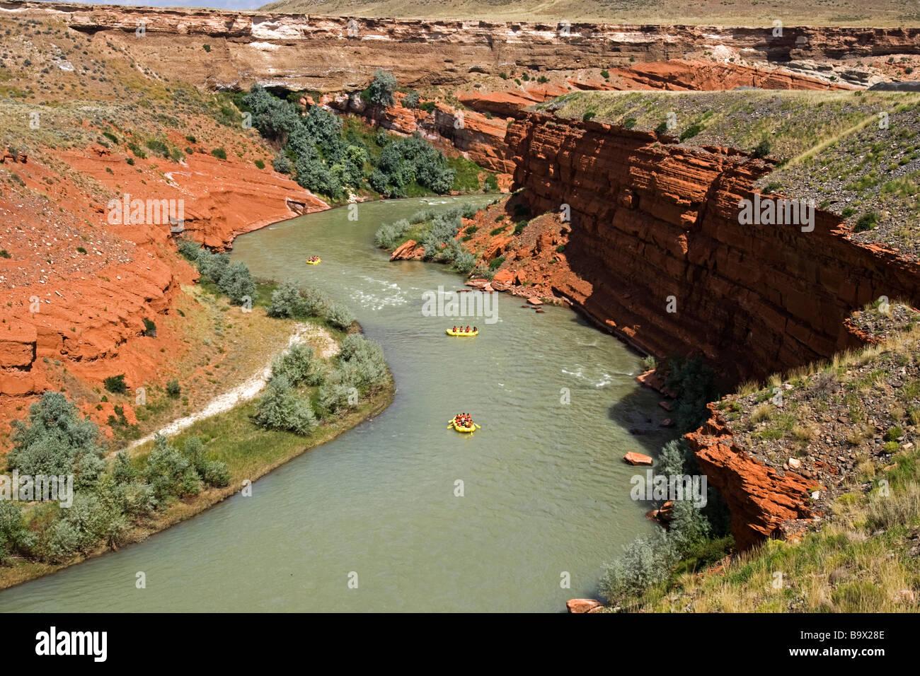 River Rafting Shoshone River Red Rock Canyon Cody Wyoming