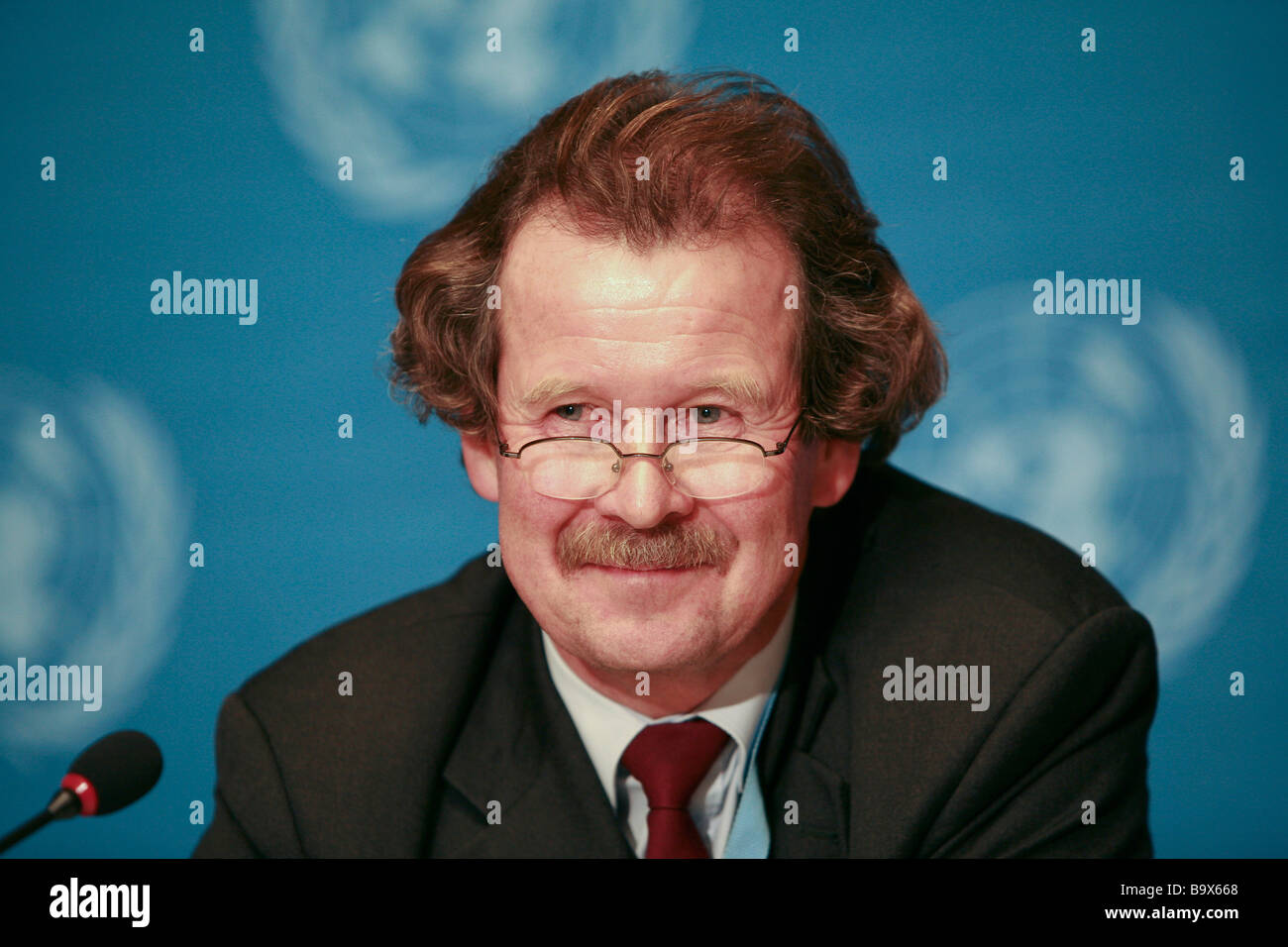Manfred Nowak - Austrian human rights lawyer and United Nations Special Rapporteur on Torture. - Stock Image
