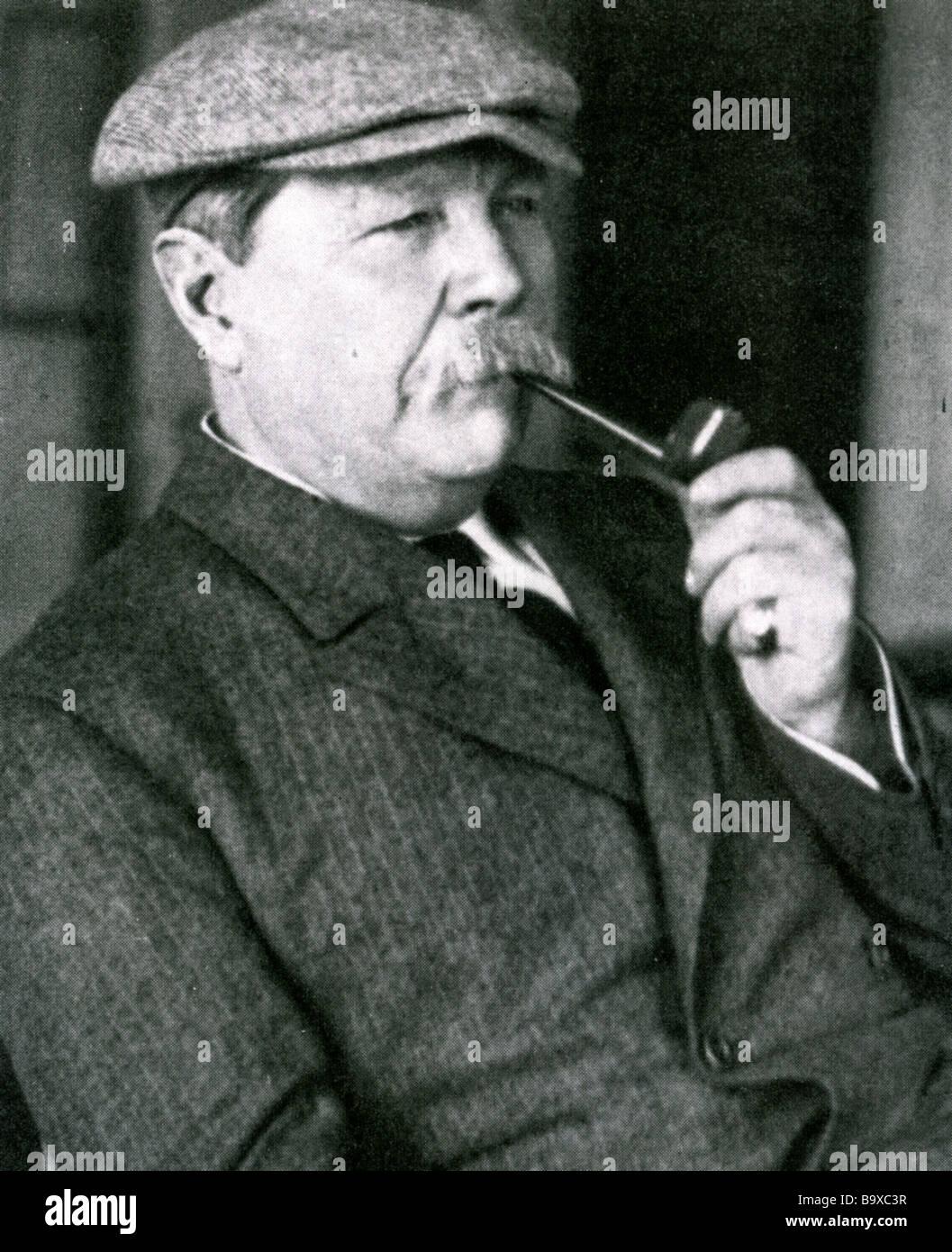 SIR ARTHUR CONAN DOYLE English writer and creator of Sherlock Holmes - Stock Image