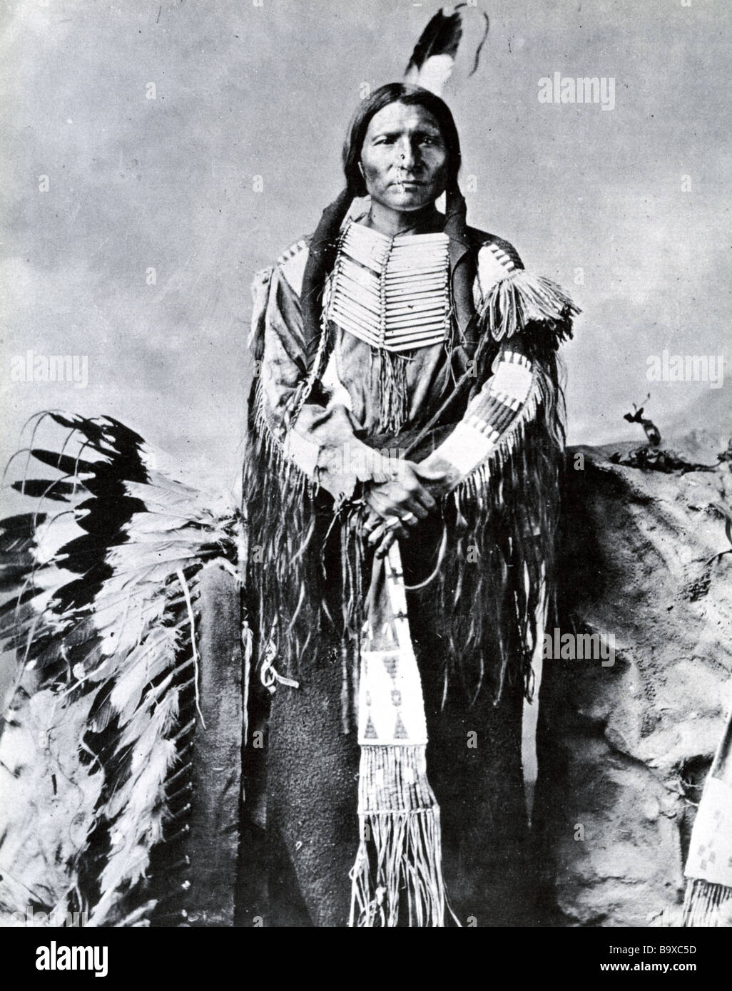 LITTLE BIG MAN spokesman for the Oglala Sioux in the Indian Wars of the 1870s - Stock Image