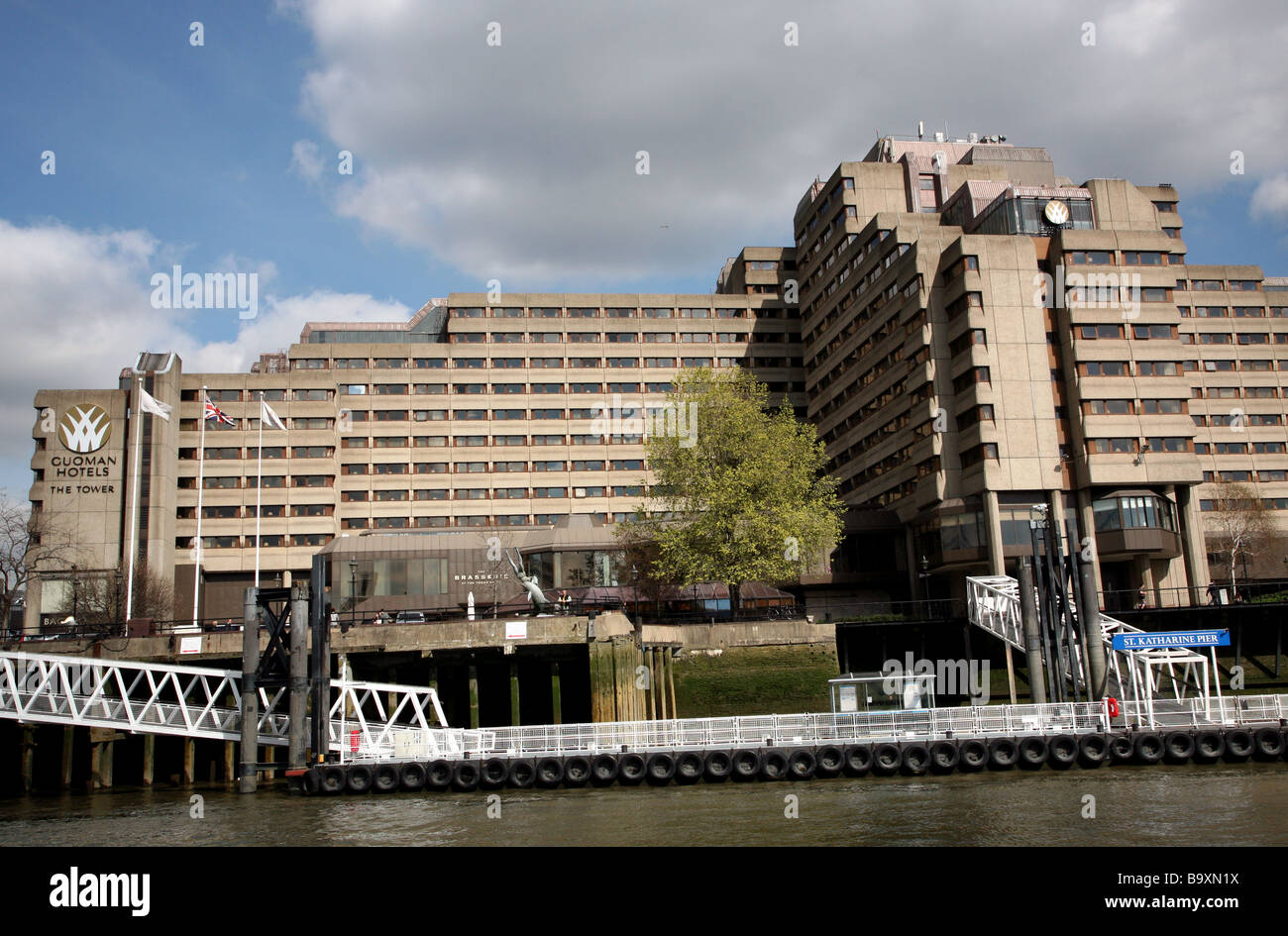 Tower Hotel and St Katherine Pier, London Stock Photo