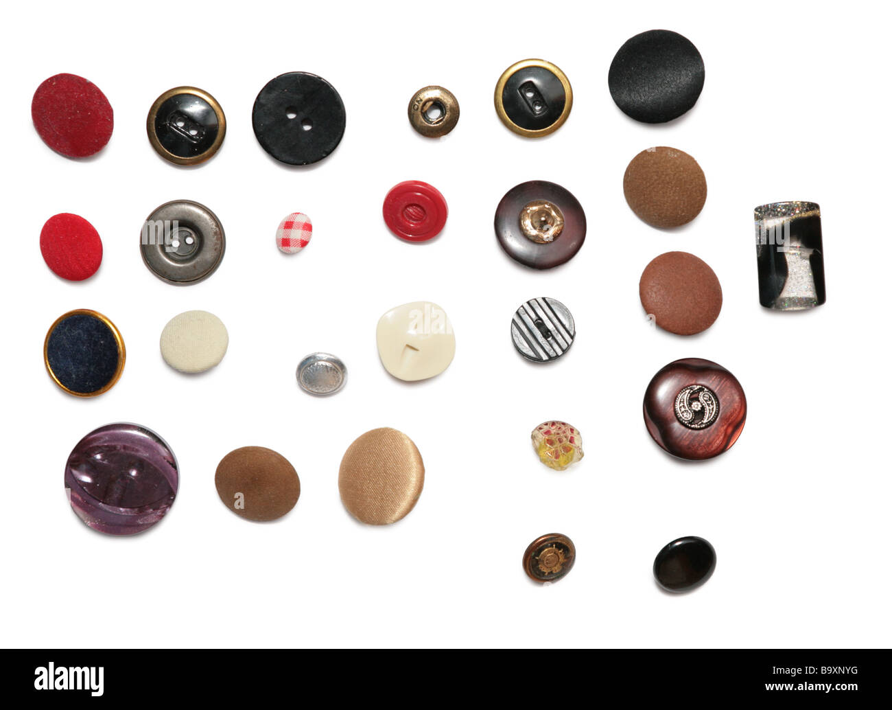 Rows of buttons - Stock Image