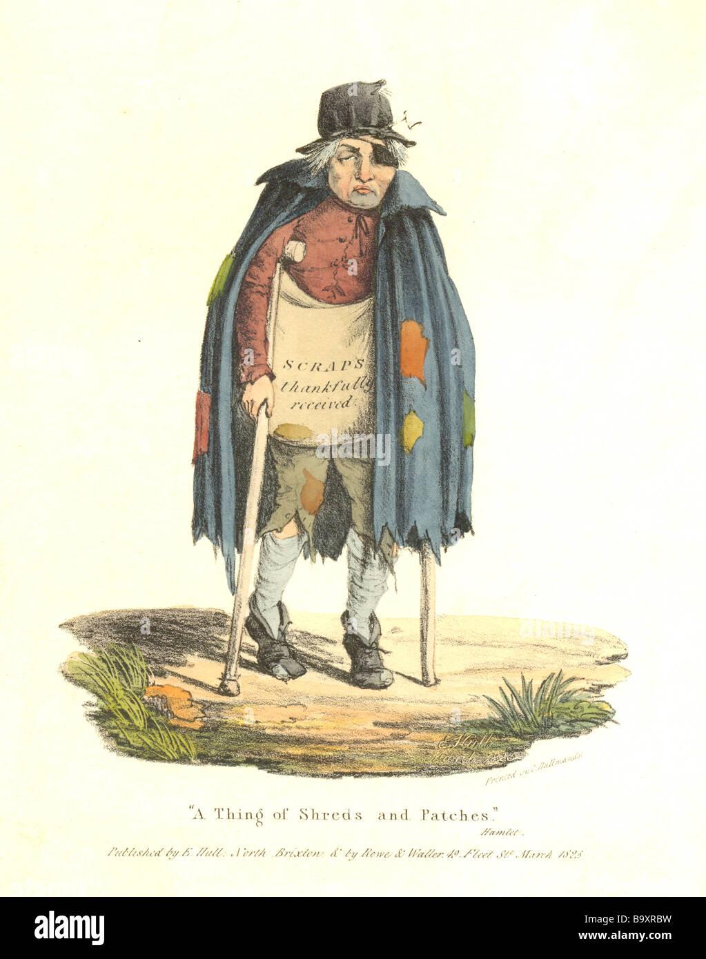 Scrap album frontispiece printed by C Hullmandel 1825 - Stock Image