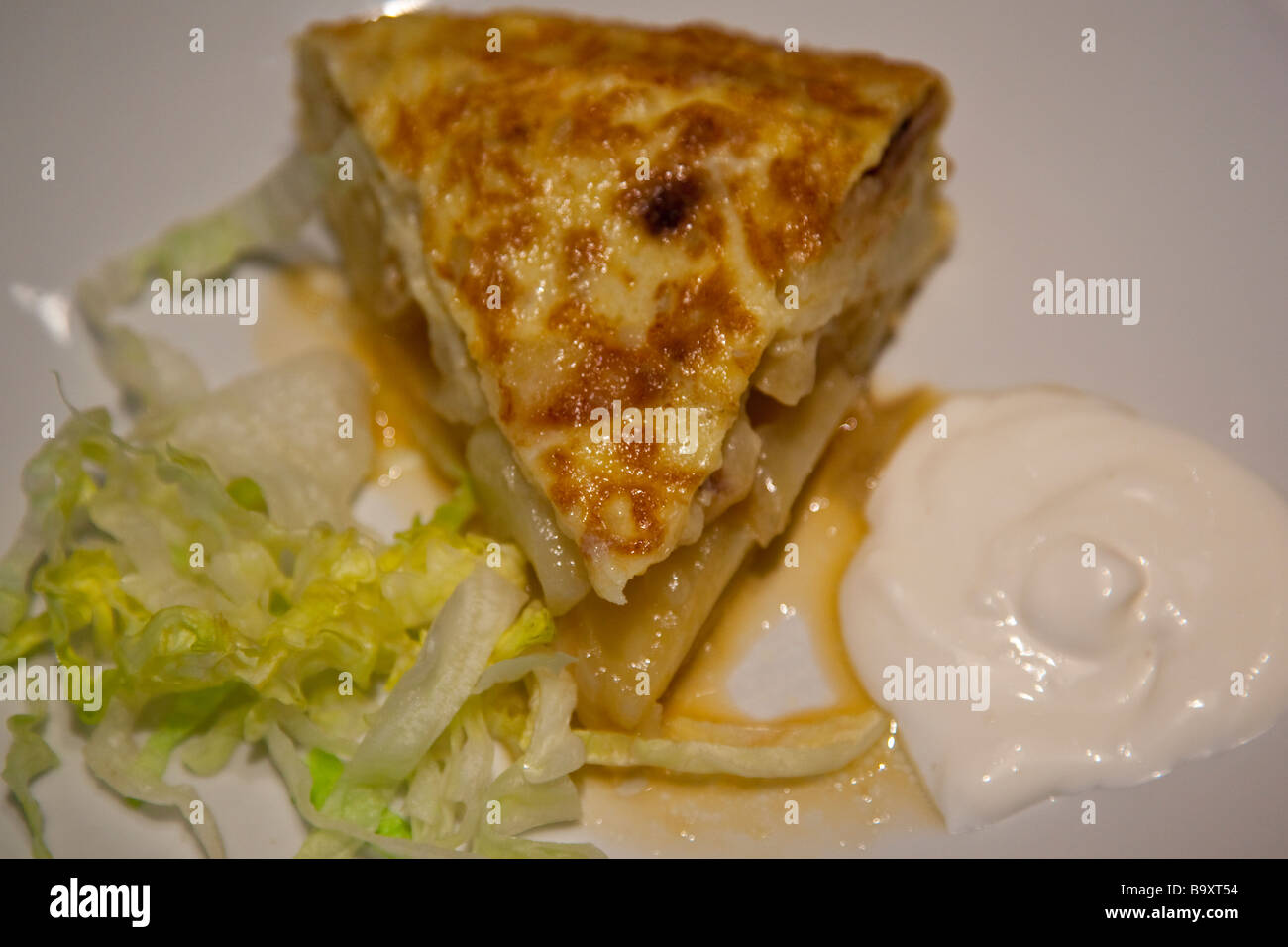 Tortilla Traditional Tapa at a Restaurant in Seville Spain - Stock Image