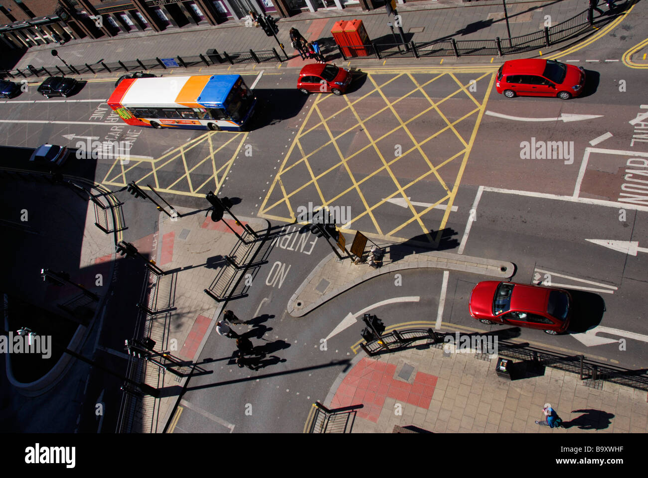road junction - Stock Image
