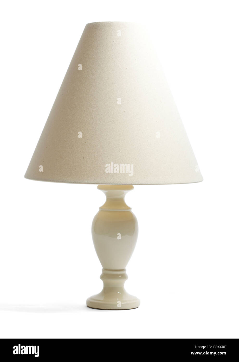 Table lamp on white background - Stock Image