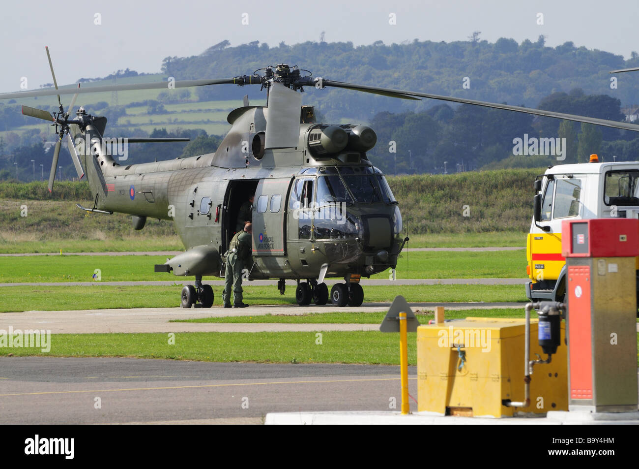 Super Puma Helicopter - Stock Image