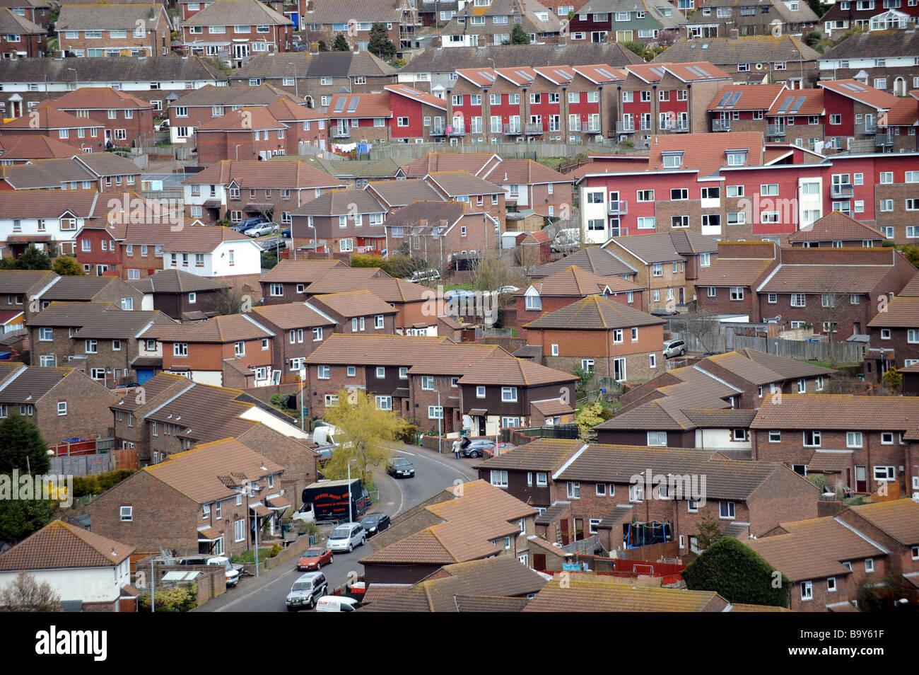 The Whitehawk housing estate in Brighton East Sussex UK Stock Photo