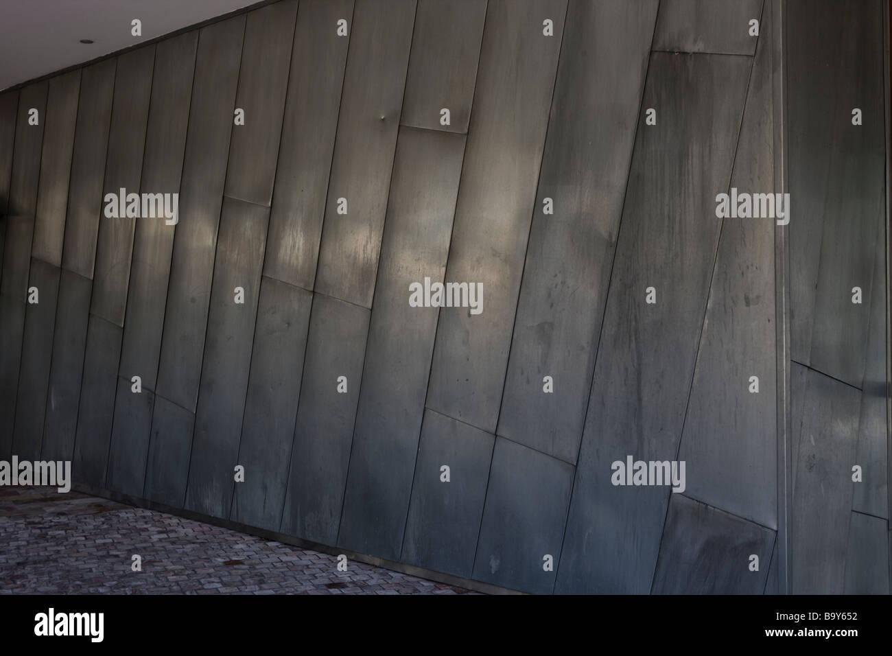 Metal polished wall. - Stock Image