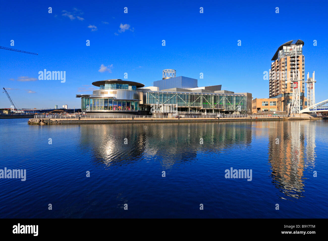 The Lowry Centre, Salford Quays, Manchester, Lancashire, England, UK. - Stock Image