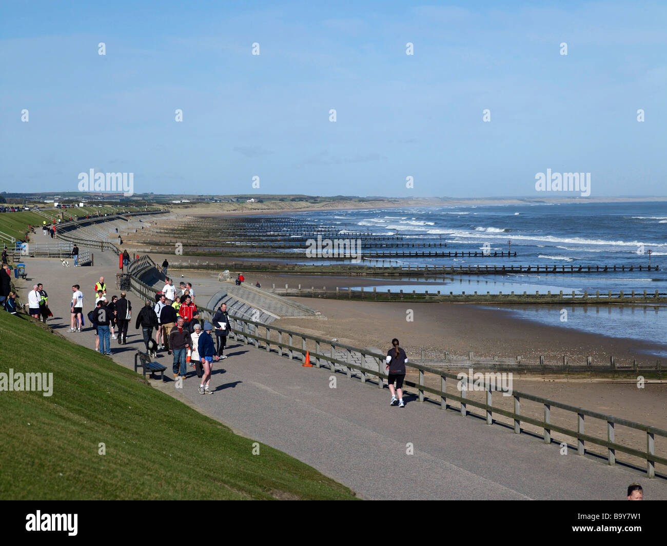 The Esplanade at Aberdeen, North East Scotland - Stock Image