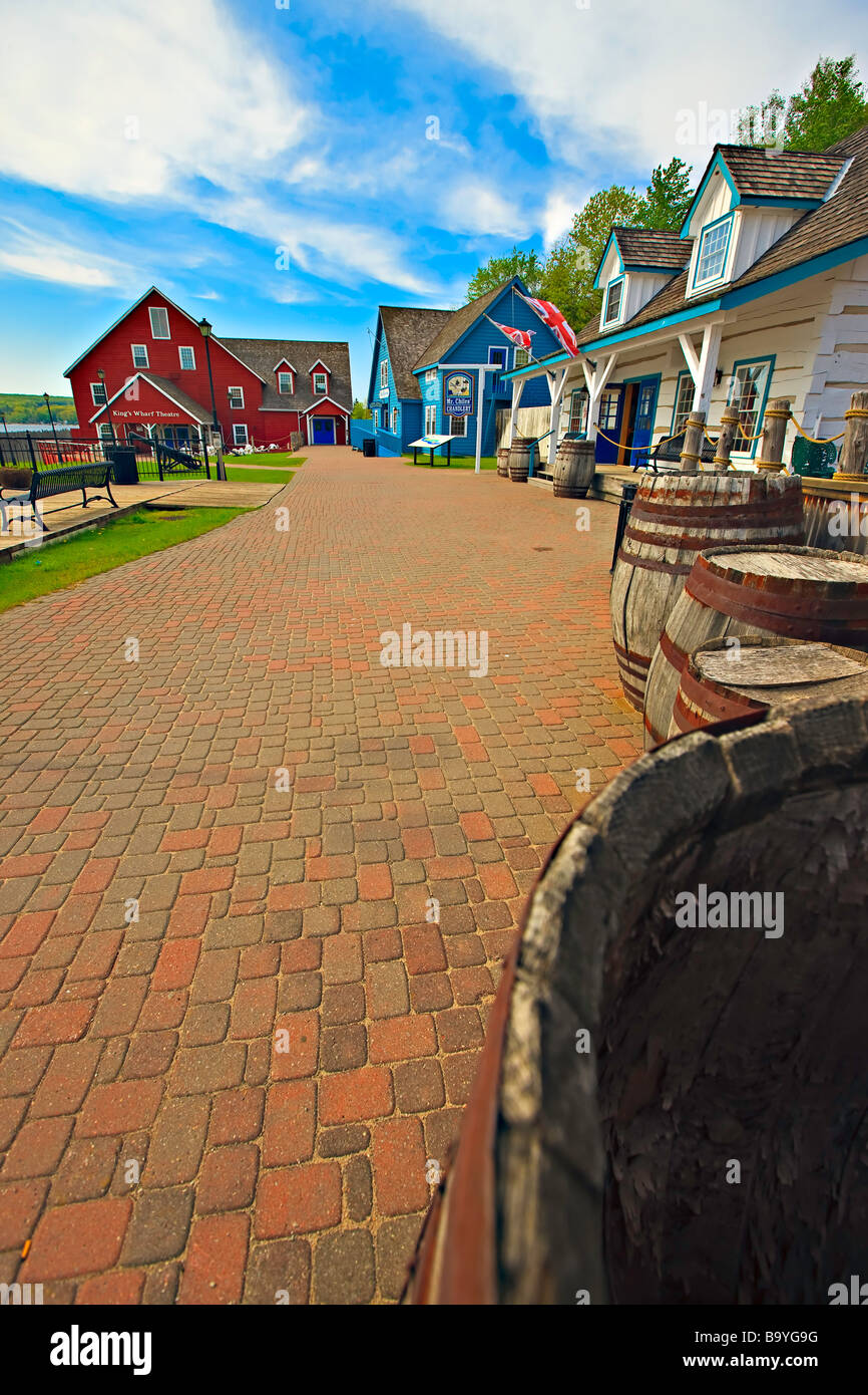Entrance to Discovery Harbour and King s Wharf on the shores of Penetanguishene Bay in the town of Midland Ontario - Stock Image