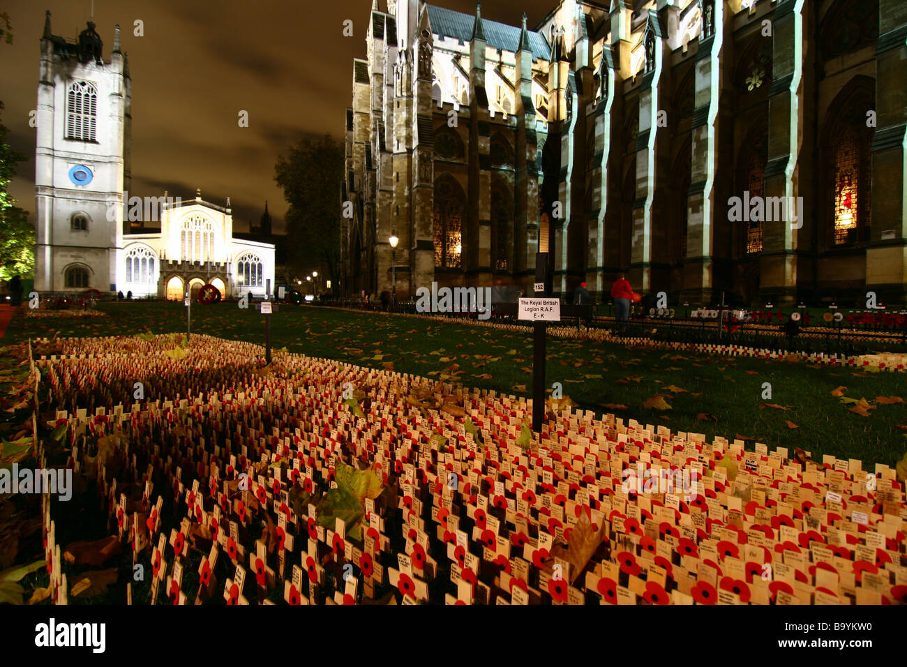 Remembrance day in Westminster. - Stock Image