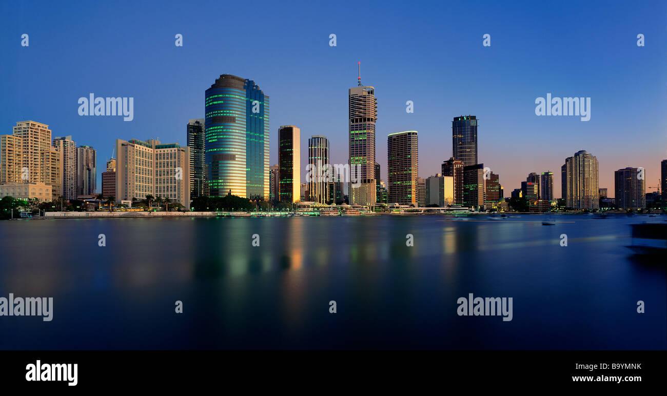Brisbane CBD Panorama cityscape - Stock Image