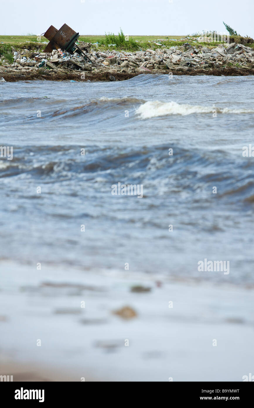 Polluted shore - Stock Image