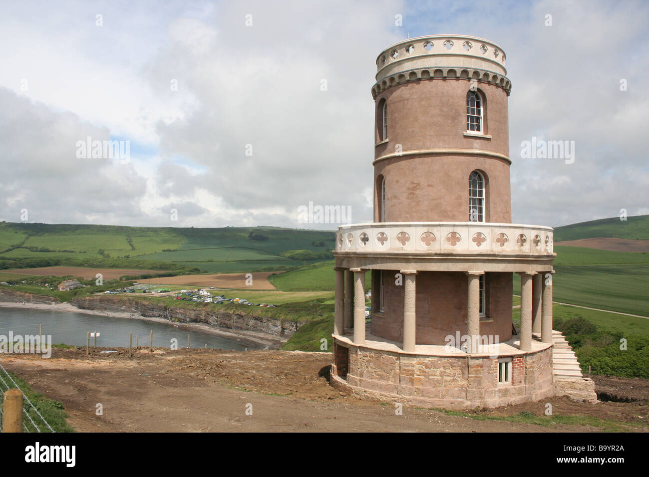 The Newly Renovated Clavell Tower on the Jurassic Coast - Stock Image