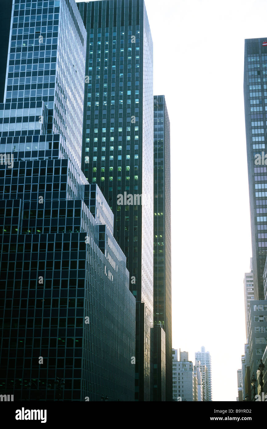 High rise buildings, cropped - Stock Image