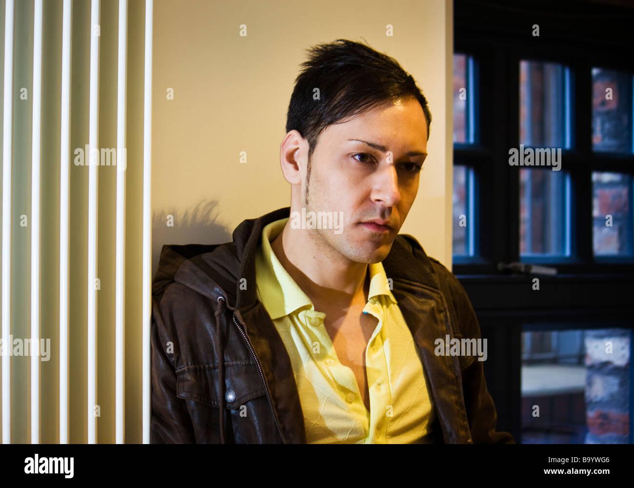 Man thinking - Stock Image
