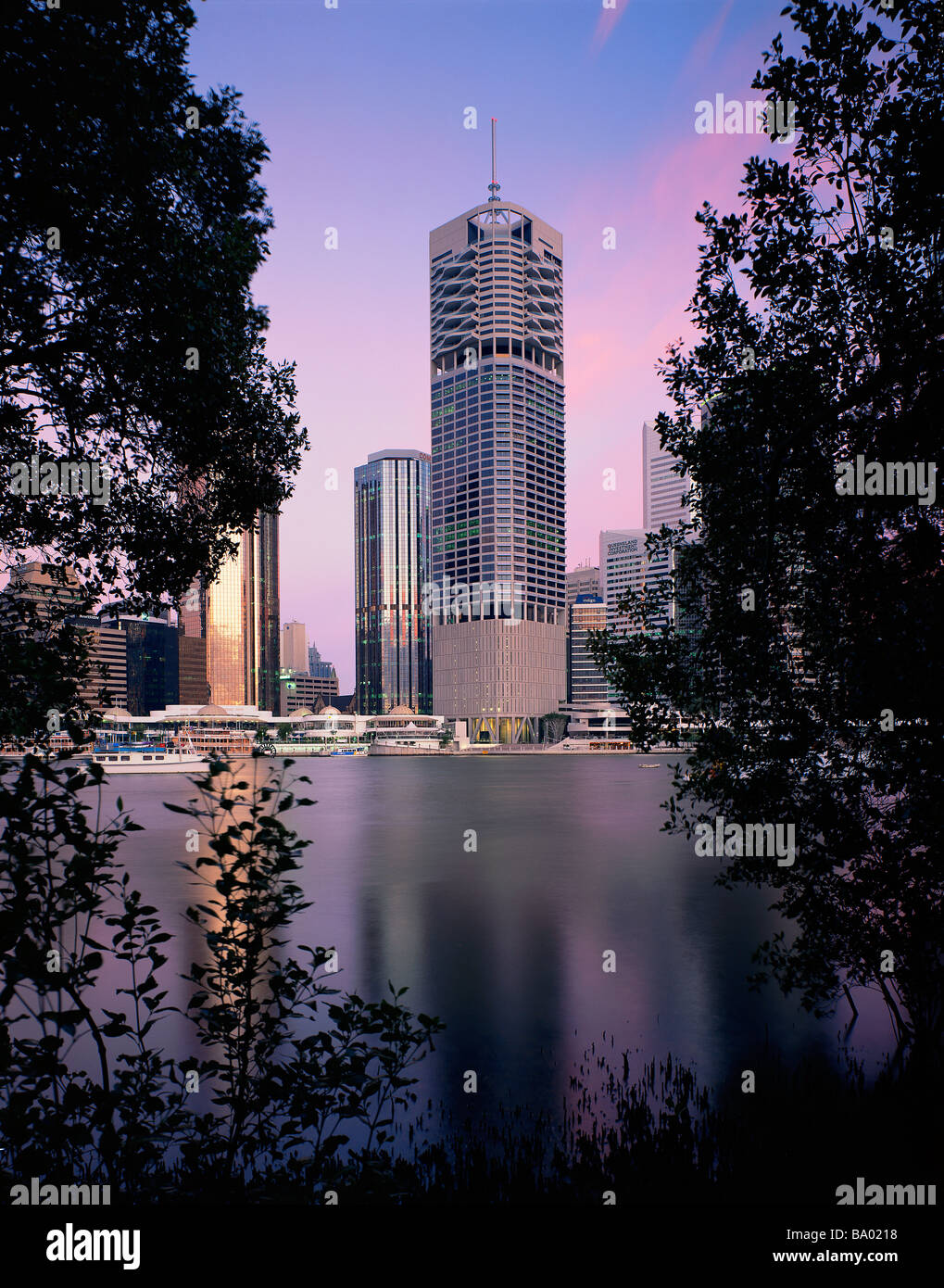 Riparian Plaza Brisbane - Stock Image