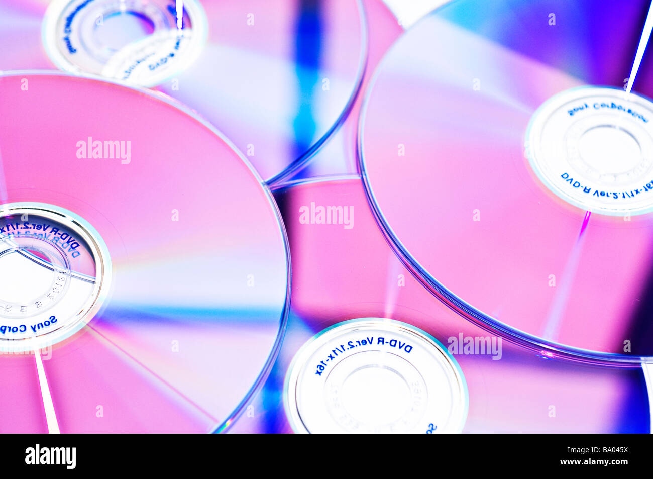 CD and DVD discs - Stock Image
