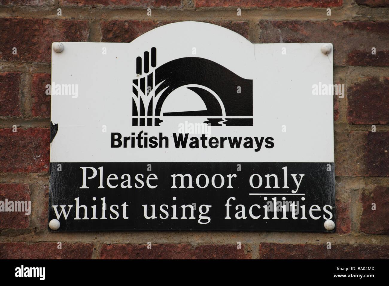 British Waterways sign - Stock Image