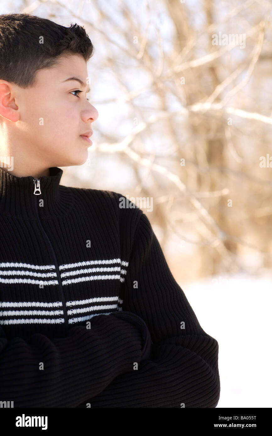 Profile of a boy - Stock Image