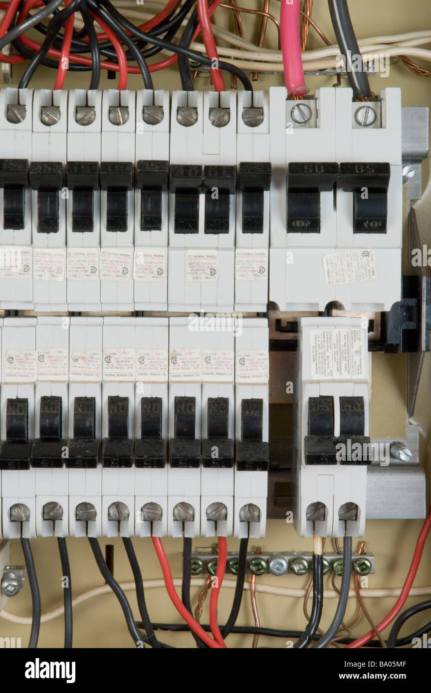 Fuse Box Circuit Breaker Stock Photos Home Breakers Household Elecetrical With Image