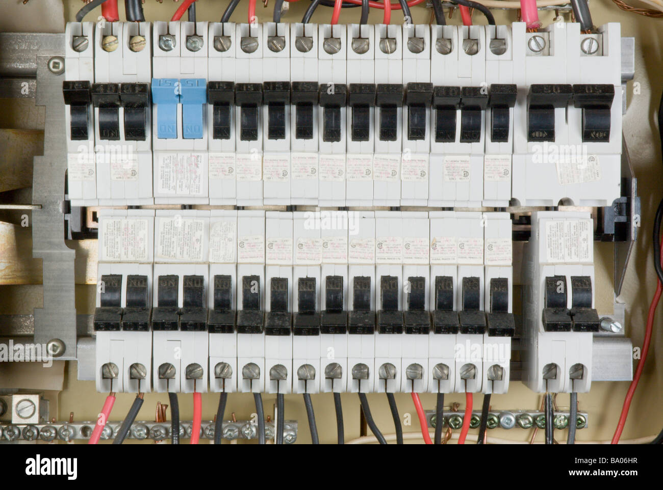Fuse Box Household Stock Photos Images Circuit Breaker Panel Image Page Elecetrical With Breakers