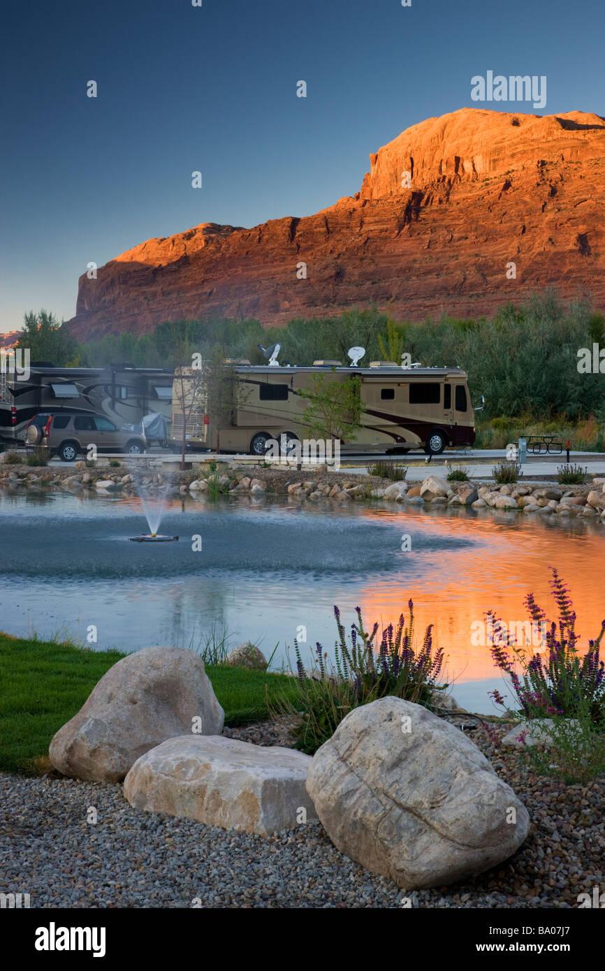 The Portal RV Resort Moab Utah - Stock Image