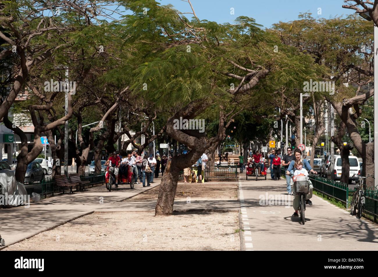 Rothschild Boulevard Tel Aviv Israel - Stock Image