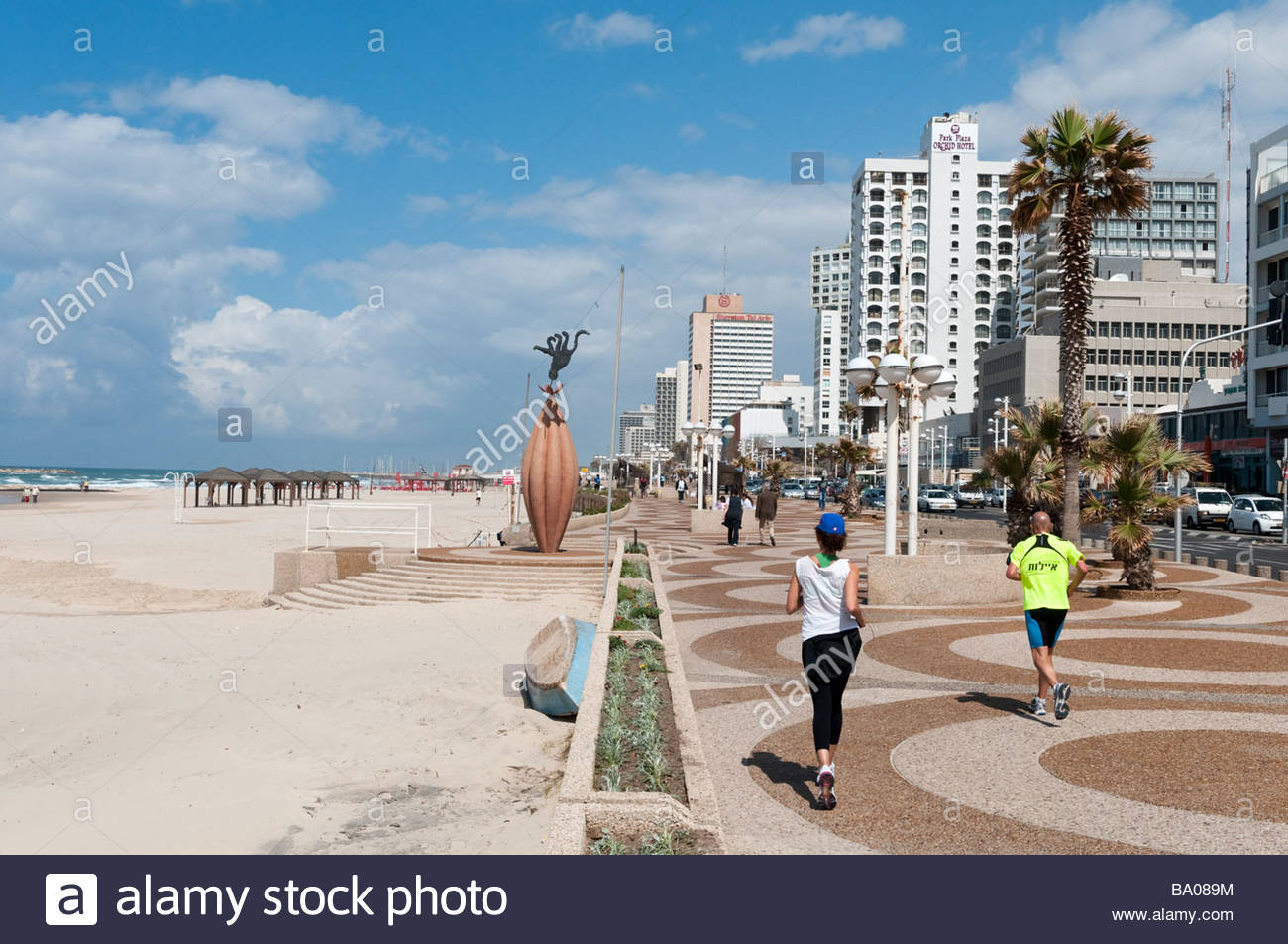 The waterfront promenade, Tel Aviv, Israel - Stock Image