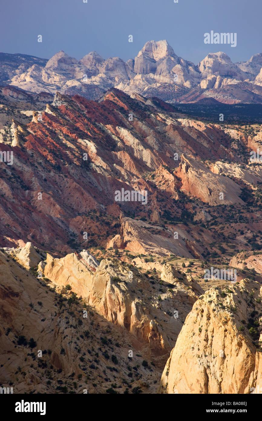 The Waterpocket Fold Capitol Reef National Park Utah - Stock Image