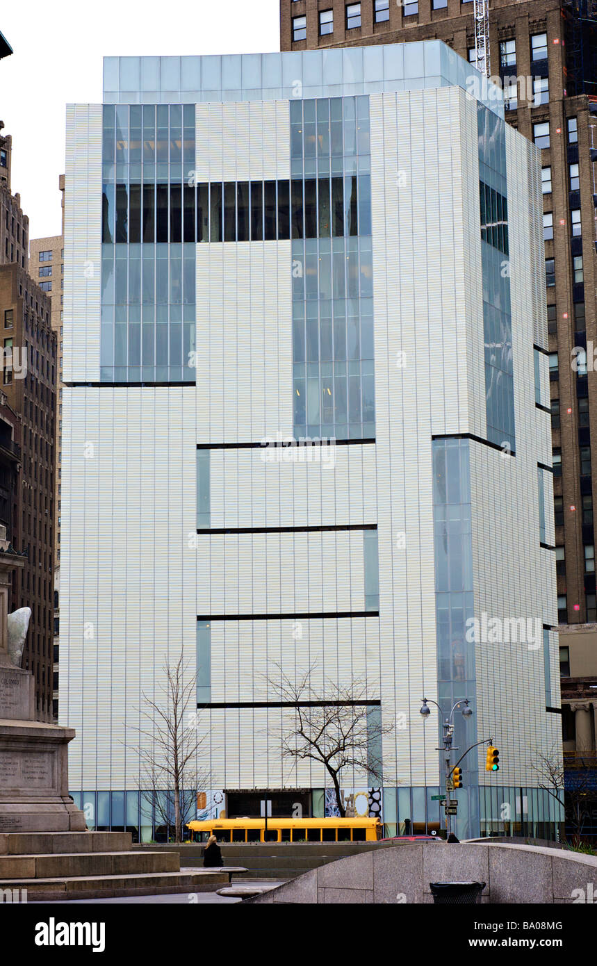 The Museum of Arts and Design at 2 Columbus Circle, designed by Allied Works Architecture (For Editorial Use Only) Stock Photo