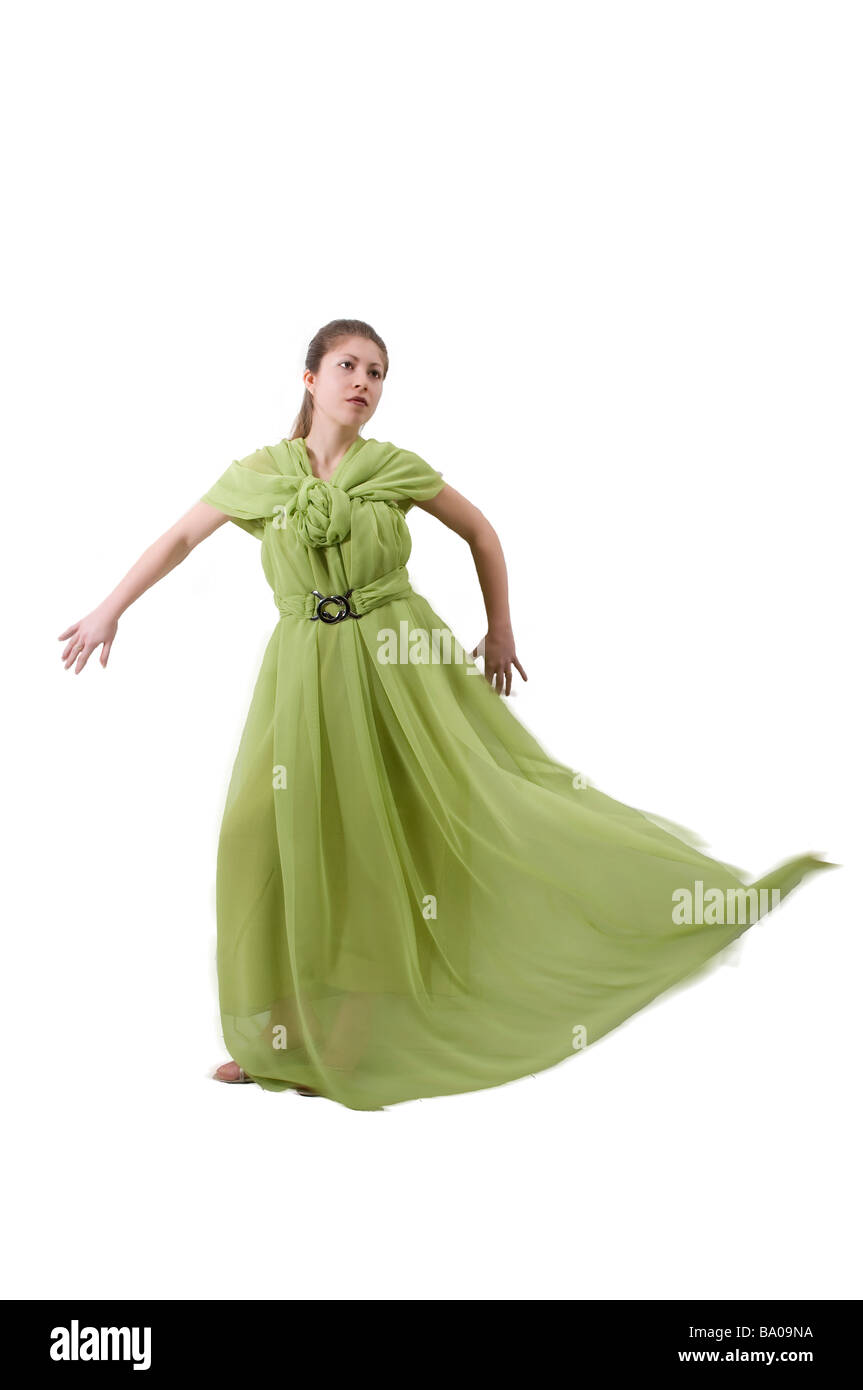 A model with a fashionable dress - Stock Image