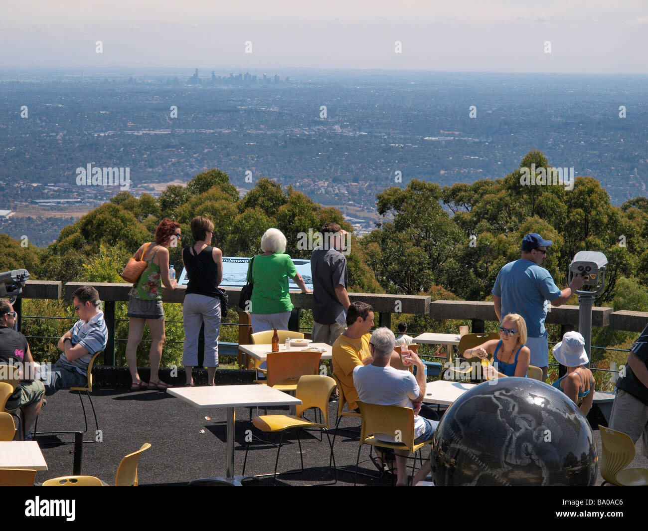 LOOKOUT AT SKYHIGH , MOUNT DANDENONG VICTORIA AUSTRALIA - Stock Image