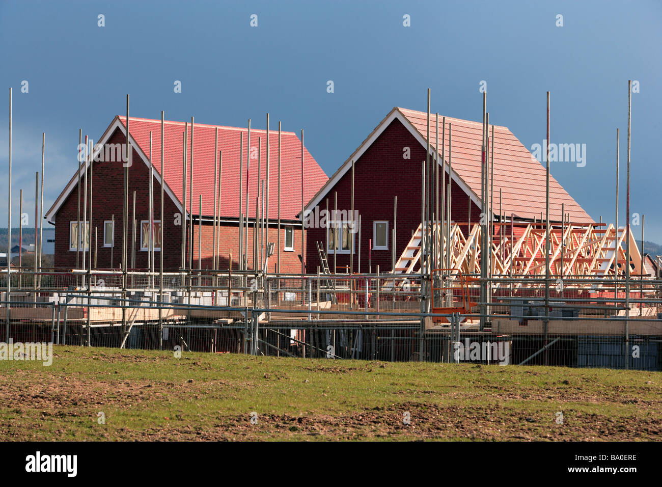 New housing construction UK - Stock Image