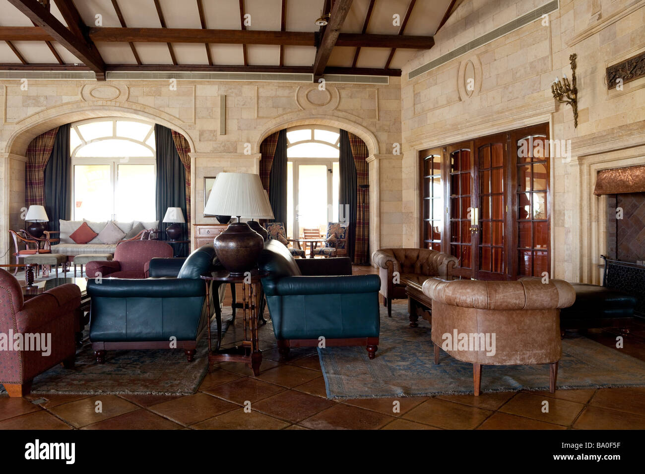 lounge, clubhouse, Katameya Heights golf club New Cairo, Egypt - Stock Image