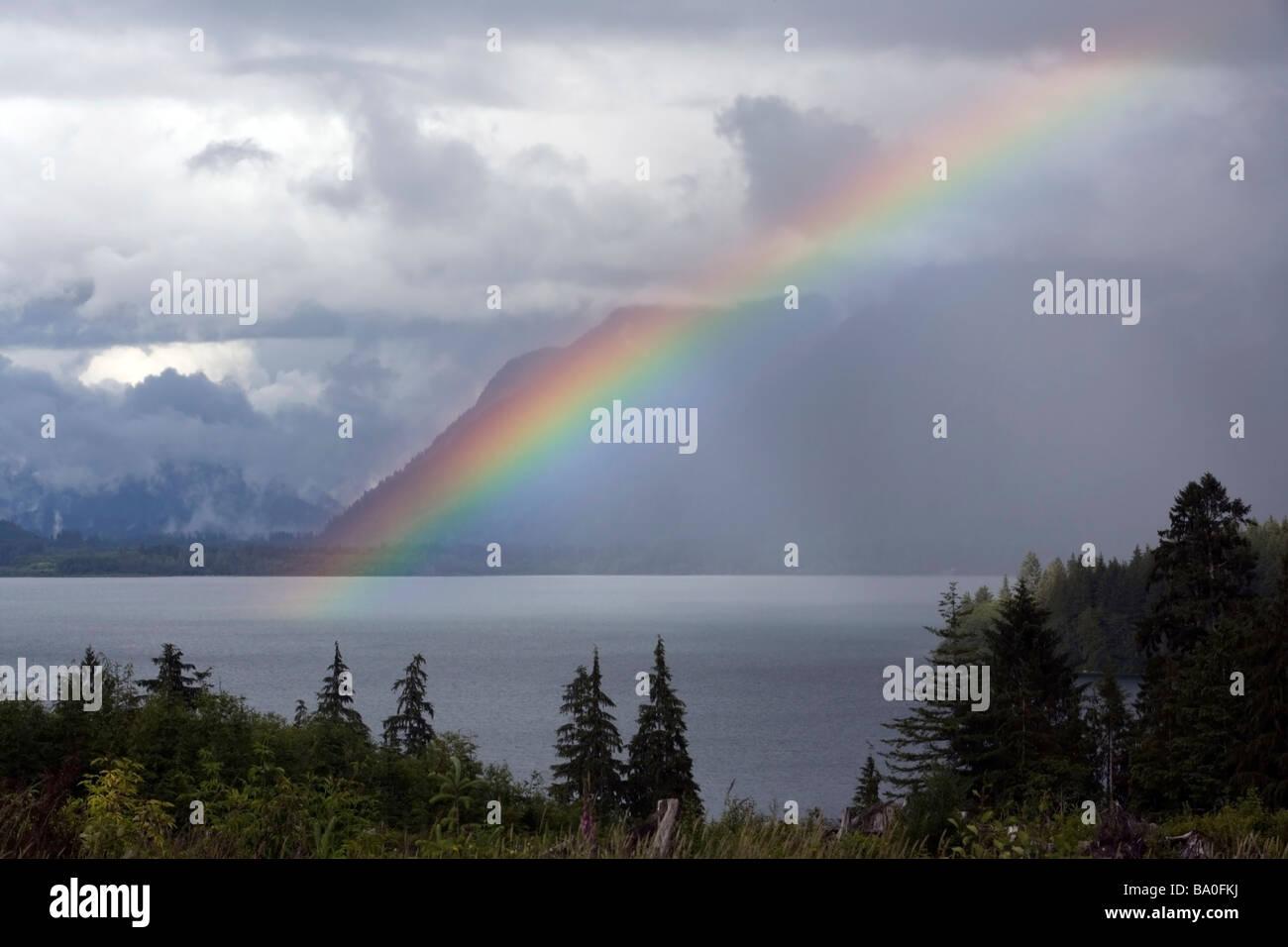 Rainbow - Olympic National Park, Washington USA - Stock Image