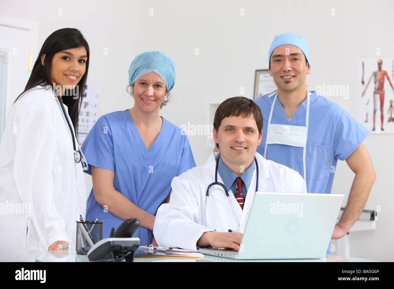 Medical personnel group portriat - Stock Image