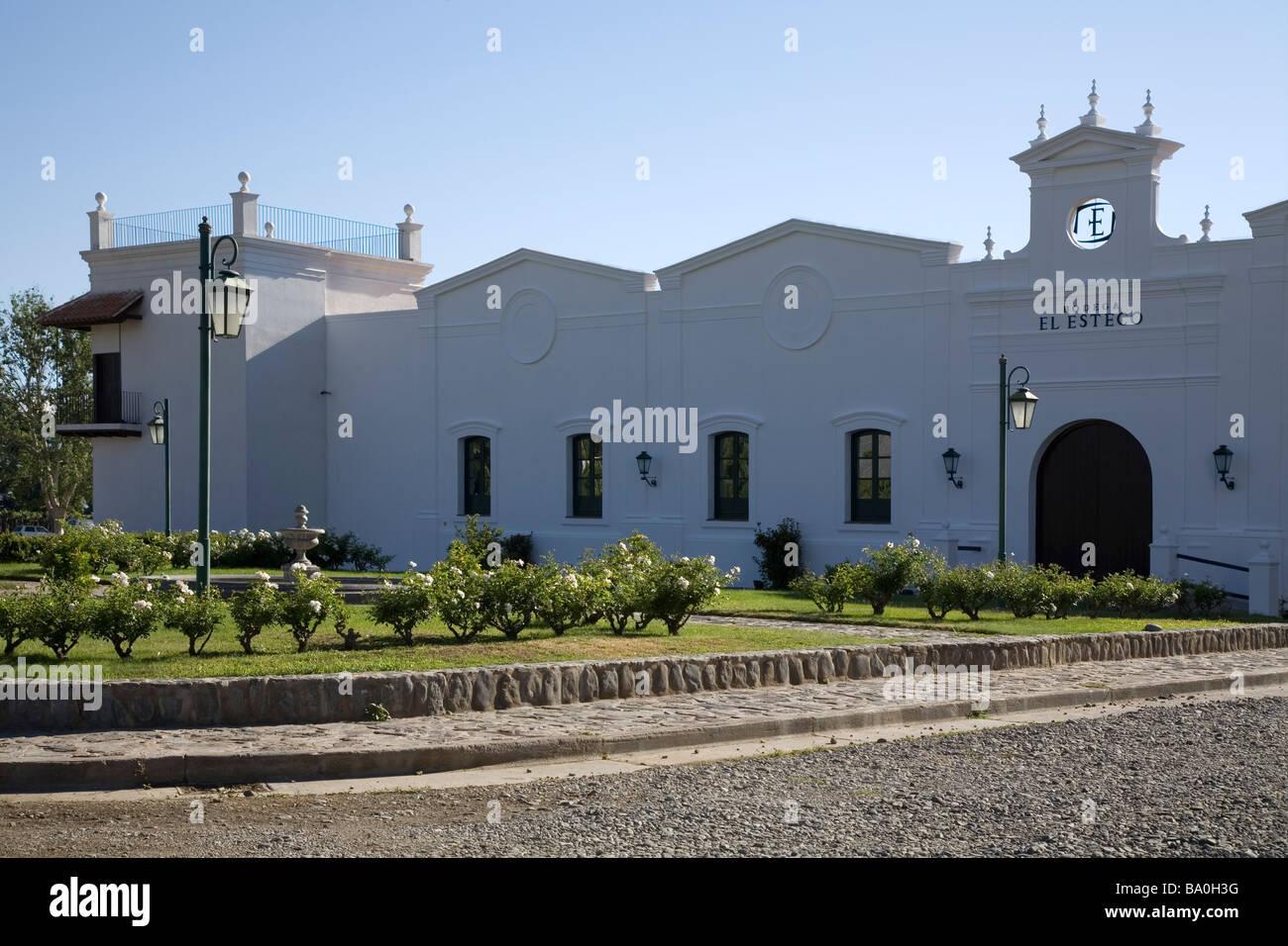 Entrance to Bodega El Esteco, Salta province, Argentina - Stock Image