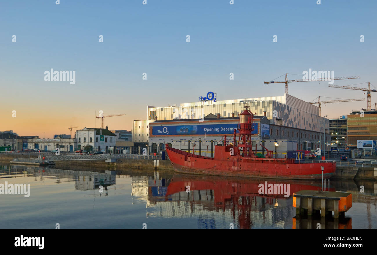 The O2 Concert Venue in Dublin Ireland Formerly known as the Point Theatre - Stock Image