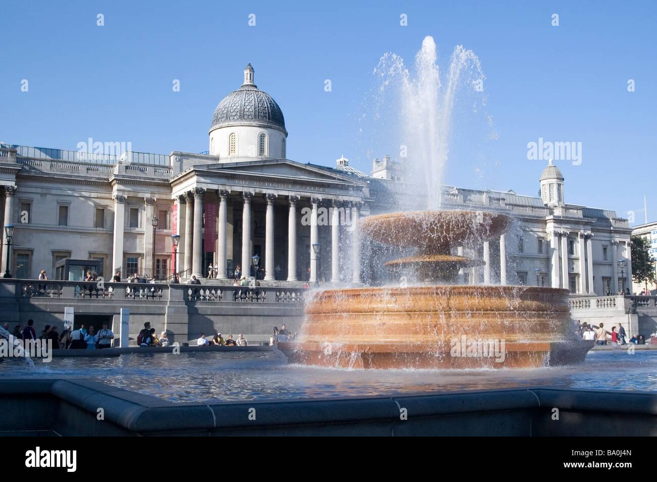 The National Art Gallery in Trafalgar Square London England - Stock Image