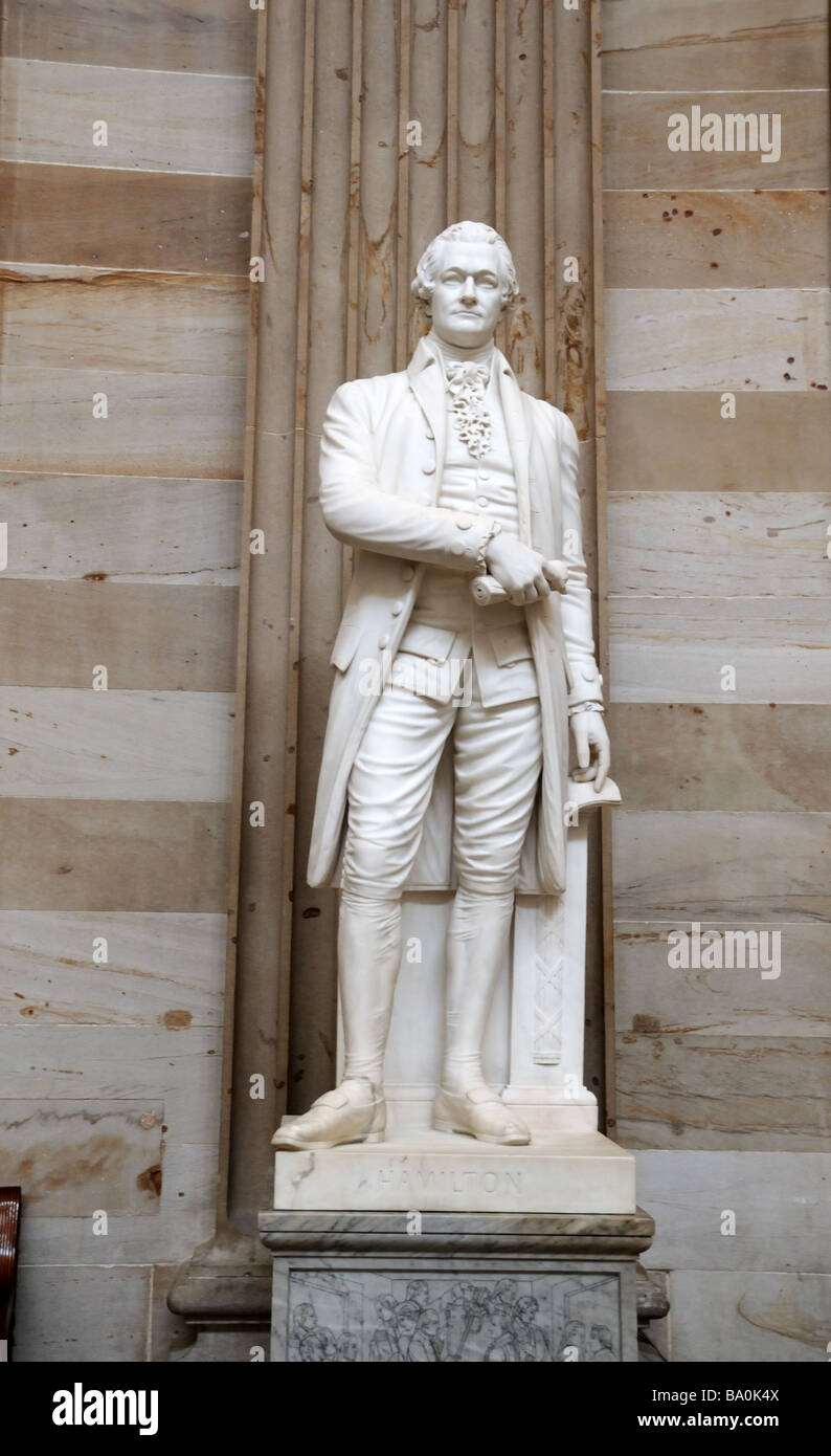 A statue of Alexander Hamilton is in the Rotunda of the U. S. Capitol building in Washington, D. C. - Stock Image