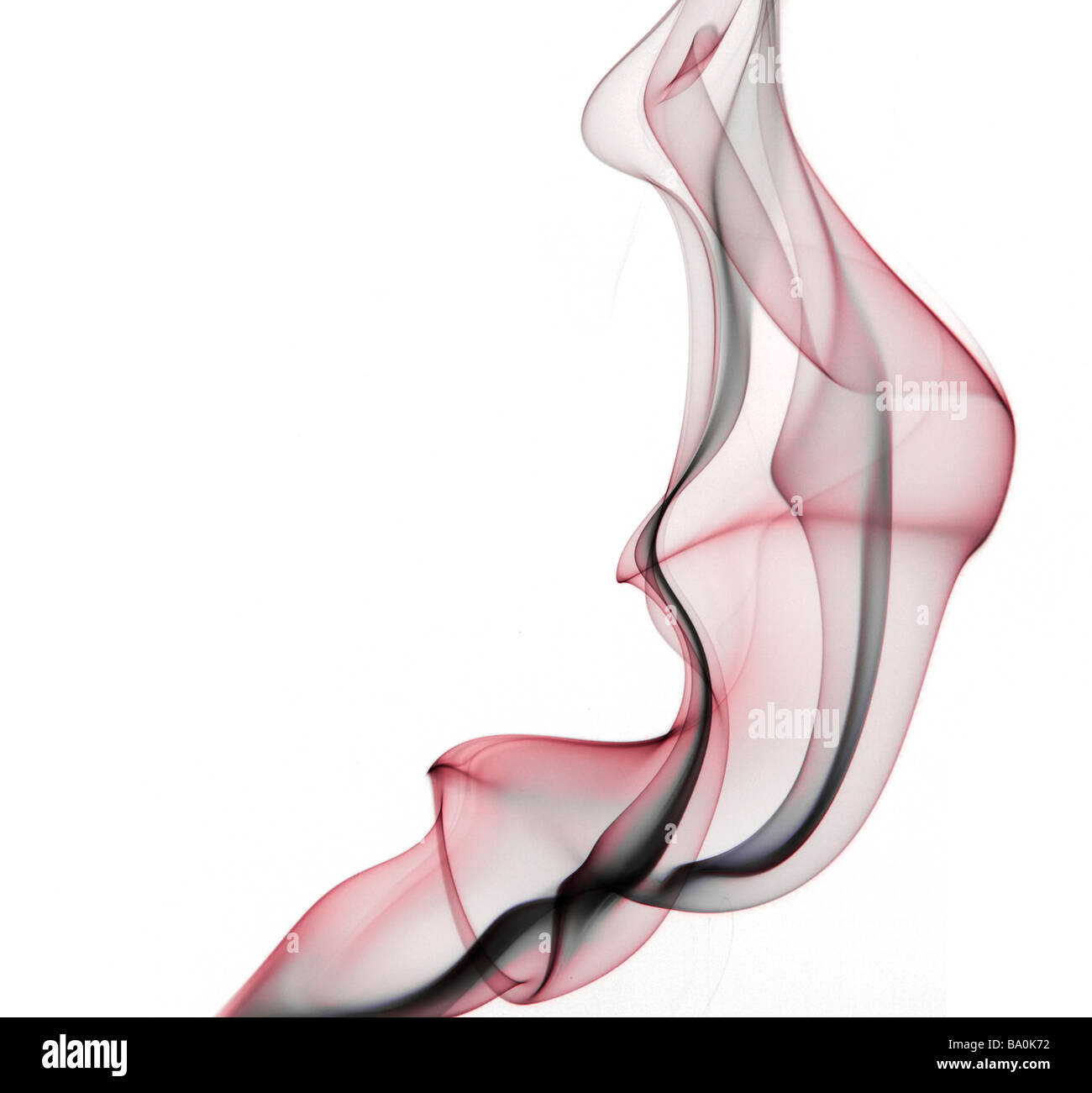Delicate colourful smoke abstract Stock Photo
