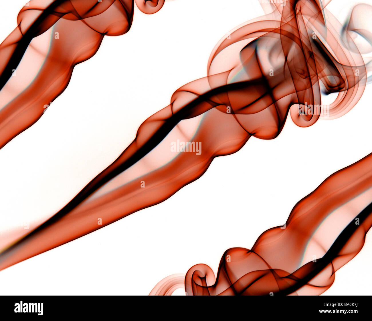 Delicate colourful smoke abstract - Stock Image