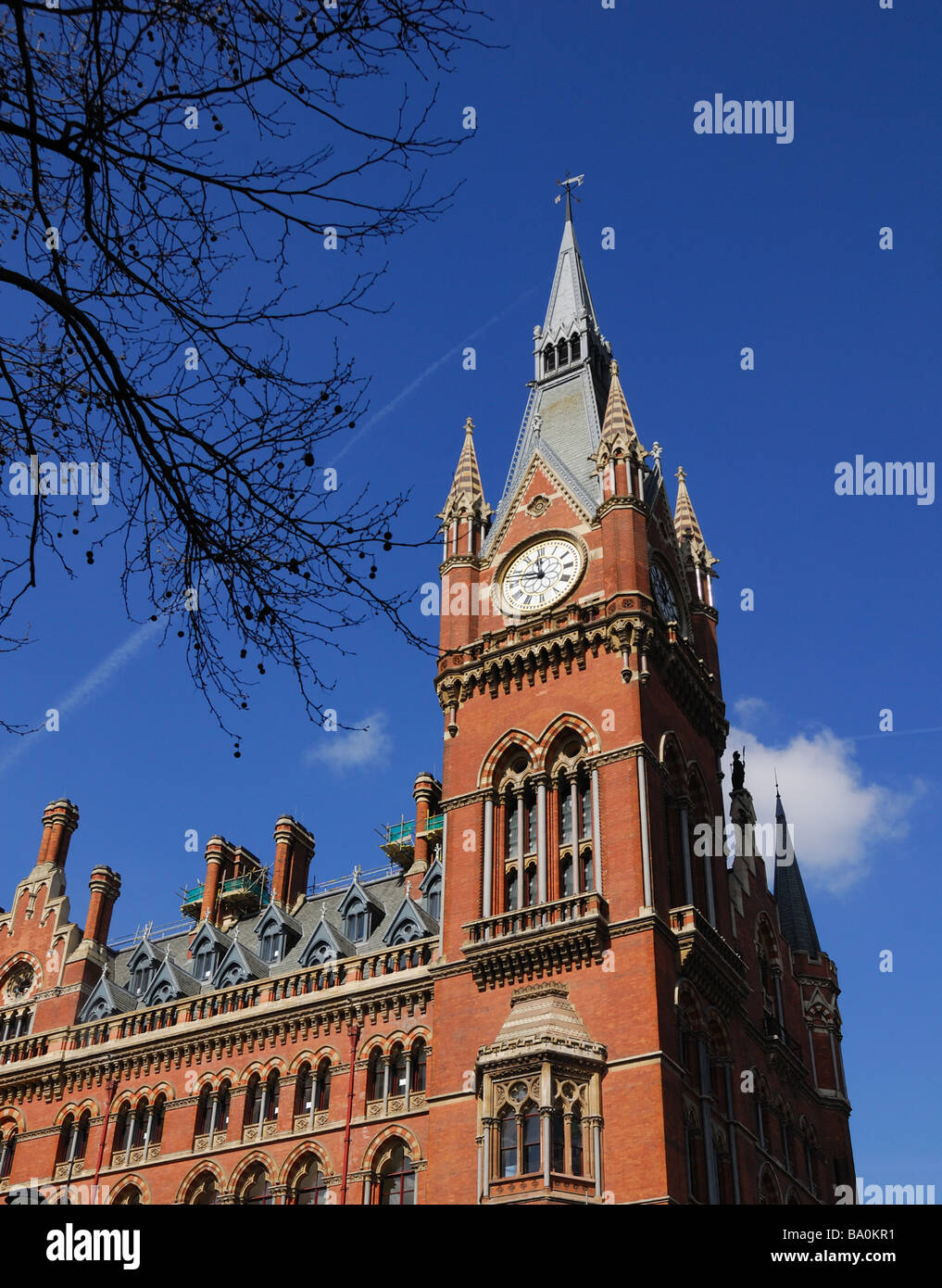 St.Pancras Station clock tower - Stock Image