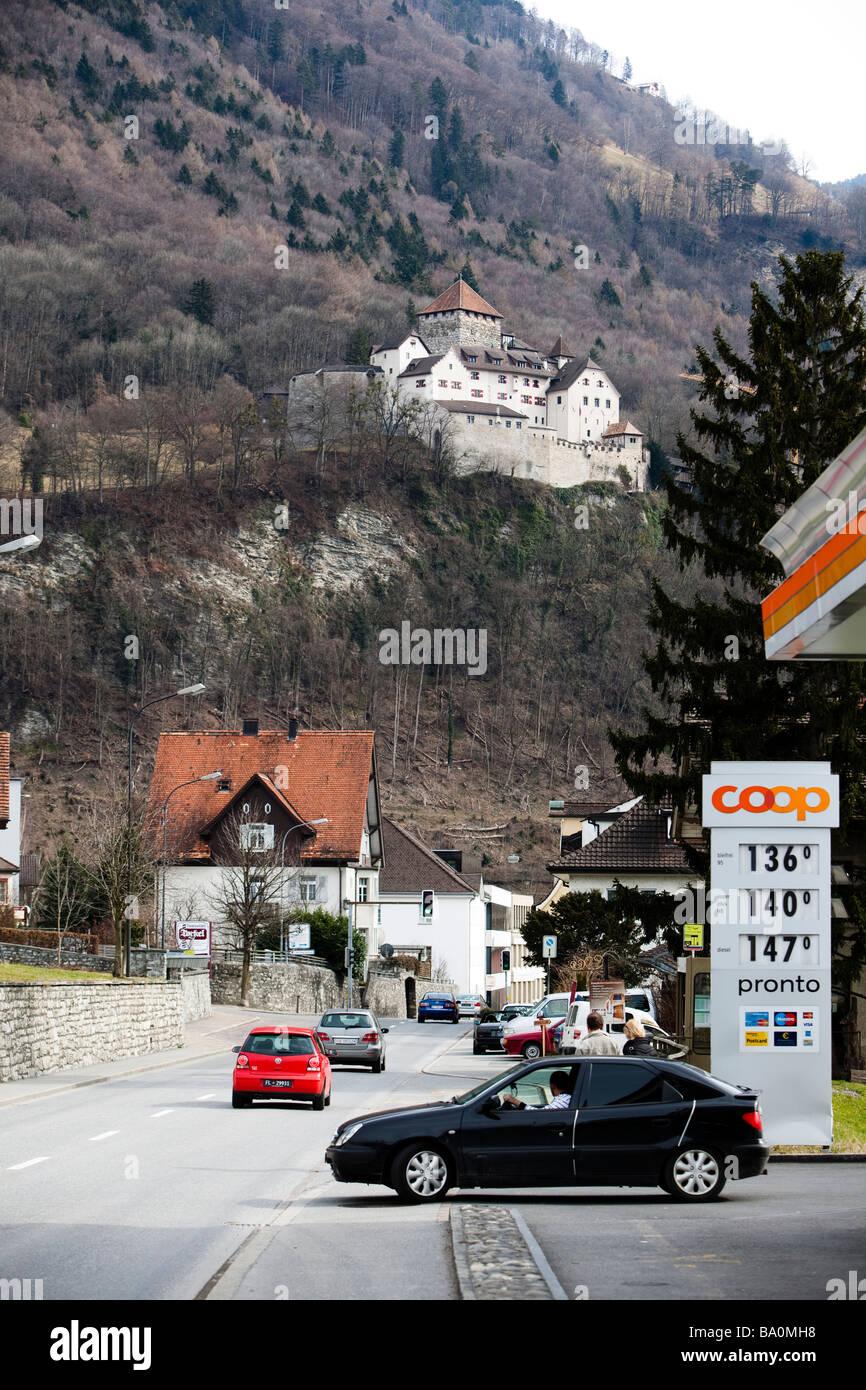 The princely castle of Vaduz, Liechtenstein Stock Photo