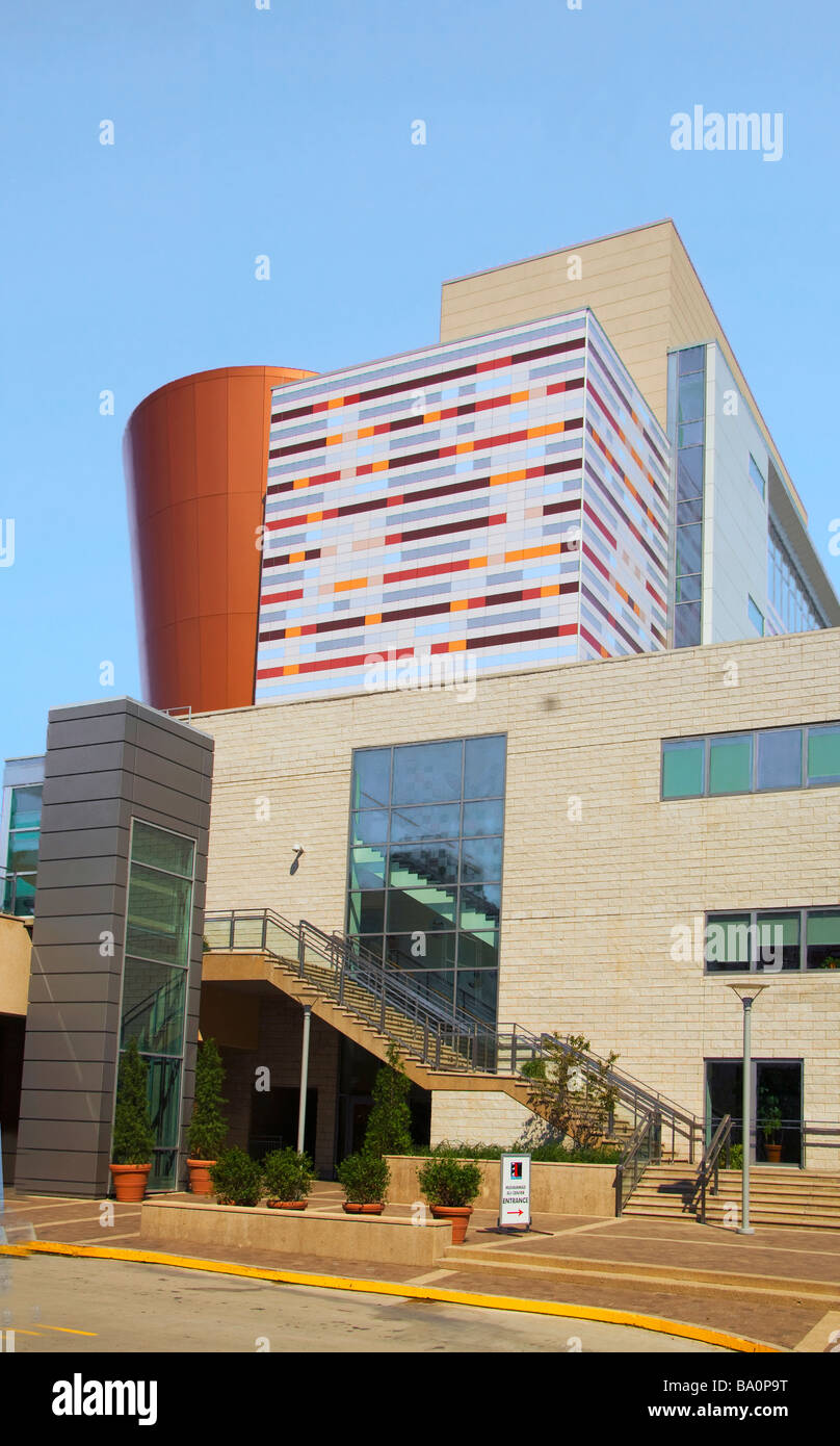 The Muhammed Ali Center in Museum Row in the West Main district of Louisville Kentucky - Stock Image